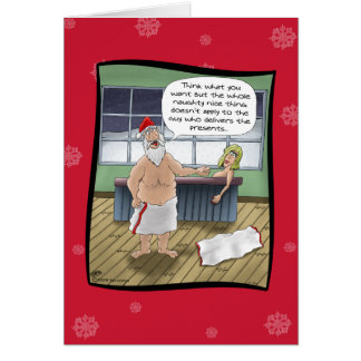 Funny Christmas Cards: Naughty and Nice Rules Card