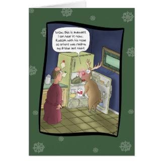 Funny Christmas Cards: Raiding the Fridge Card