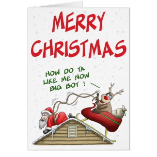 Funny Christmas Cards: Role Reversal Card