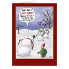 Funny Christmas Cards: Size Matters Card