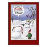 Funny Christmas Cards: Size Matters Greeting Card