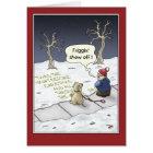 Funny Christmas Cards: Steady Flow Card