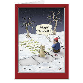Funny Christmas Cards: Steady Flow Greeting Card
