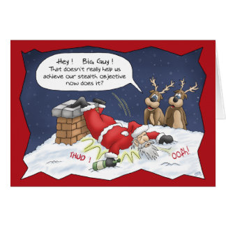 Funny Christmas Cards: Stealth Objective Card