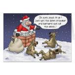 Funny Christmas Cards: Stuck