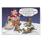 Funny Christmas Cards: Stuck Card