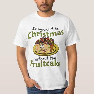 Funny Christmas Cartoon Fruitcake Shirt