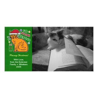 Funny Christmas Cat Feline Festive Holiday Pun Pet Card