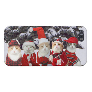 Funny Christmas Cats iPhone 5/5S Case