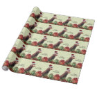Funny Christmas Chickens with Presents Wrapping Paper