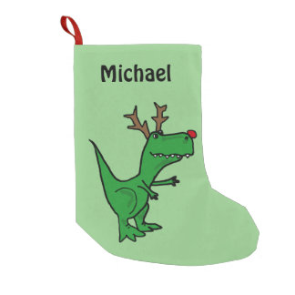 Funny Christmas Dinosaur Stocking