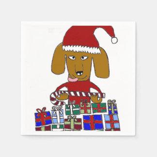 Funny Christmas Dog Disposable Napkins