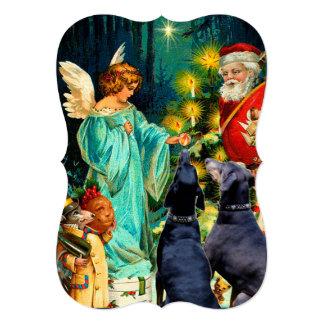 Funny Christmas Dog Doberman vintage card