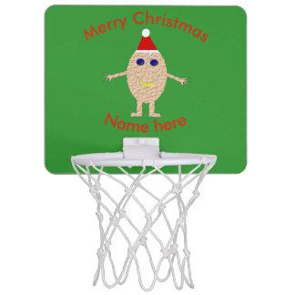 Funny Christmas Egg Basketball Hoop