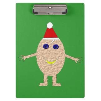 Funny Christmas Egg Clipboard