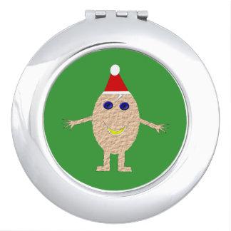 Funny Christmas Egg Compact Mirror