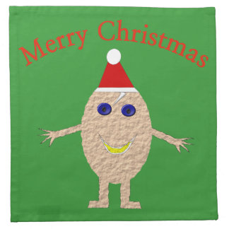 Funny Christmas Egg Custom Napkins