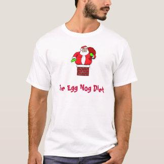 Funny Christmas Egg Nog Diet Fat Santa Claus T-Shirt