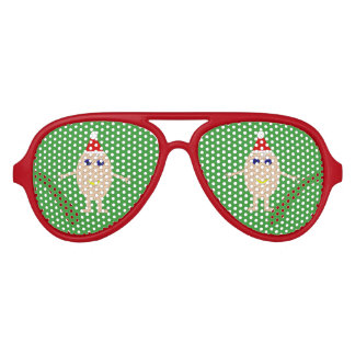 Funny Christmas Egg Party Shades