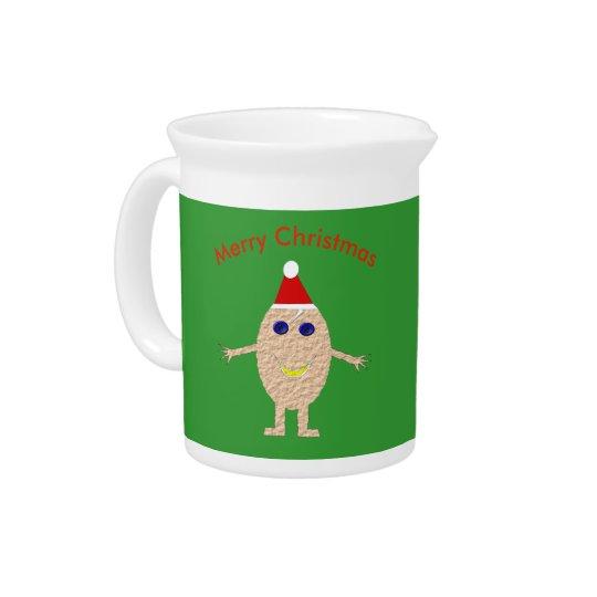 Funny Christmas Egg Pitcher