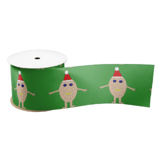 Funny Christmas Egg Ribbon Satin Ribbon