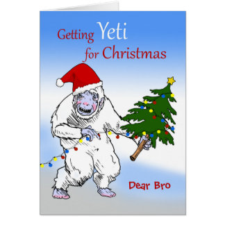 Funny Christmas for Brother, Are You Yeti Yet? Card