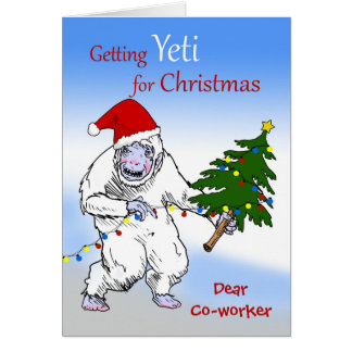 Funny Christmas for Co-worker, Are You Yeti Yet? Card