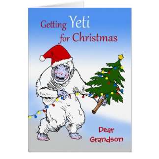 Funny Christmas for Grandson, Are You Yeti Yet? Card