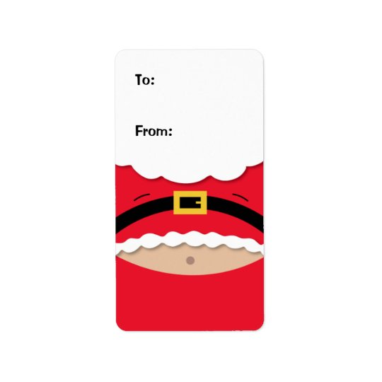Funny Christmas Gift Tag Label