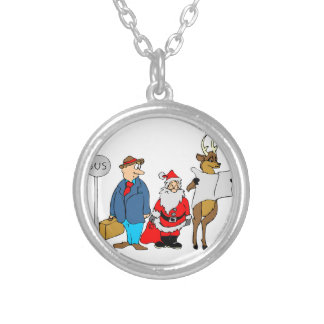 Funny Christmas Gifts Silver Plated Necklace