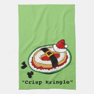 FUNNY CHRISTMAS HOLIDAY KRINGLE KITCHEN TOWEL