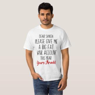 Funny Christmas Holiday Santa Tshirt for Men