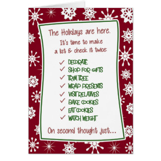 Funny Christmas Holiday Stress Card