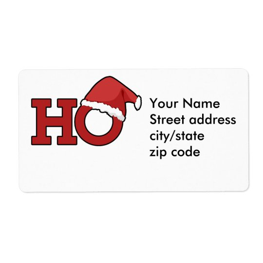 Funny Christmas Humour Shipping Label