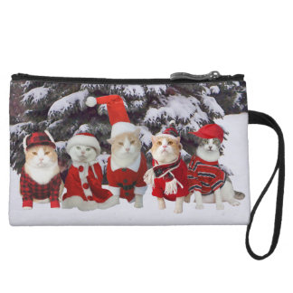 Funny Christmas Kitties Mini Clutch