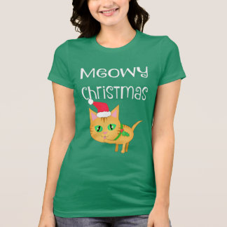 Funny Christmas Kitty Cat Lovers T-Shirt
