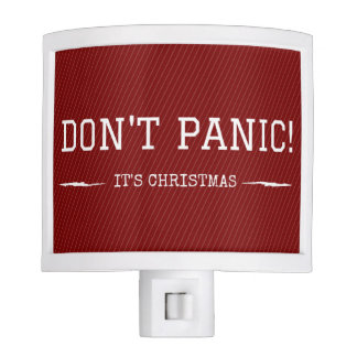 Funny Christmas Night Light Don't Panic