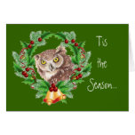 Funny Christmas Owl with Attitude Bird Humour