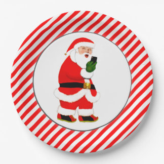 Funny Christmas Paper Plate