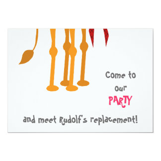 Funny Christmas Party Invitation Card (Camel)