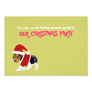 Funny Christmas Party Invitation Card (Dog)