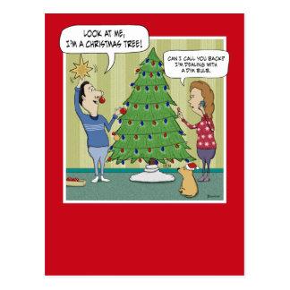 Funny Christmas postcard: Dim Bulb Postcard