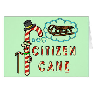 Funny Christmas Pun Citizen Cane Card