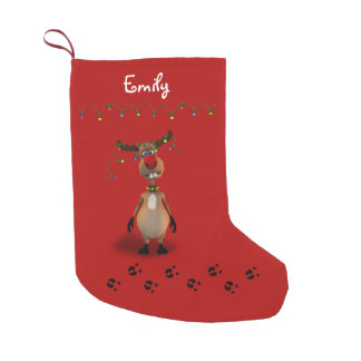 Funny Christmas Red Nosed Reindeer - Stocking