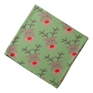 Funny Christmas reindeer dog bandana pet kerchief