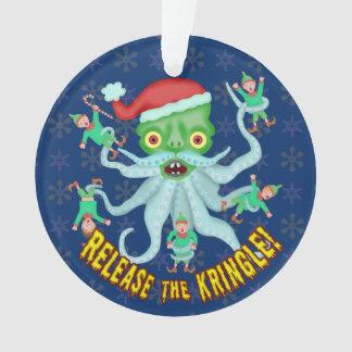 Funny Christmas Release the Kringle Santa Claus Ornament