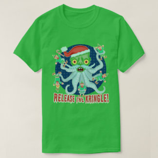 Funny Christmas Release the Kringle Santa Claus T-Shirt