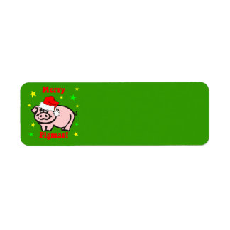 Funny Christmas Return Address Label