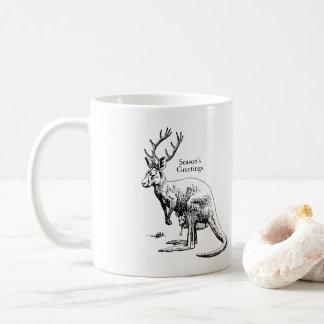 Funny Christmas Roodeer & Joey Festive Coffee Mug
