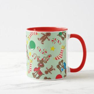 Funny Christmas Rudolph Cartoon Pattern Mug